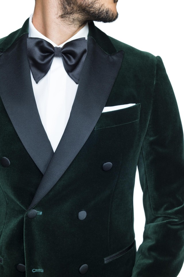 Costum Oswald Verde din Bumbac, Modal