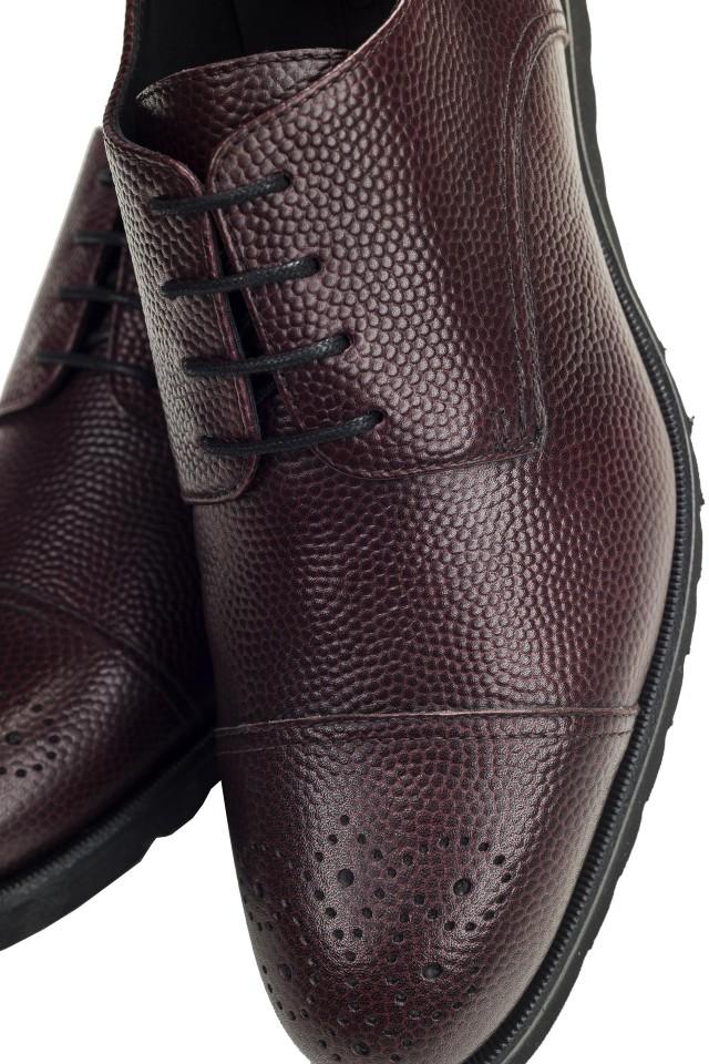 Pantofi Derby Pebble Burgundy