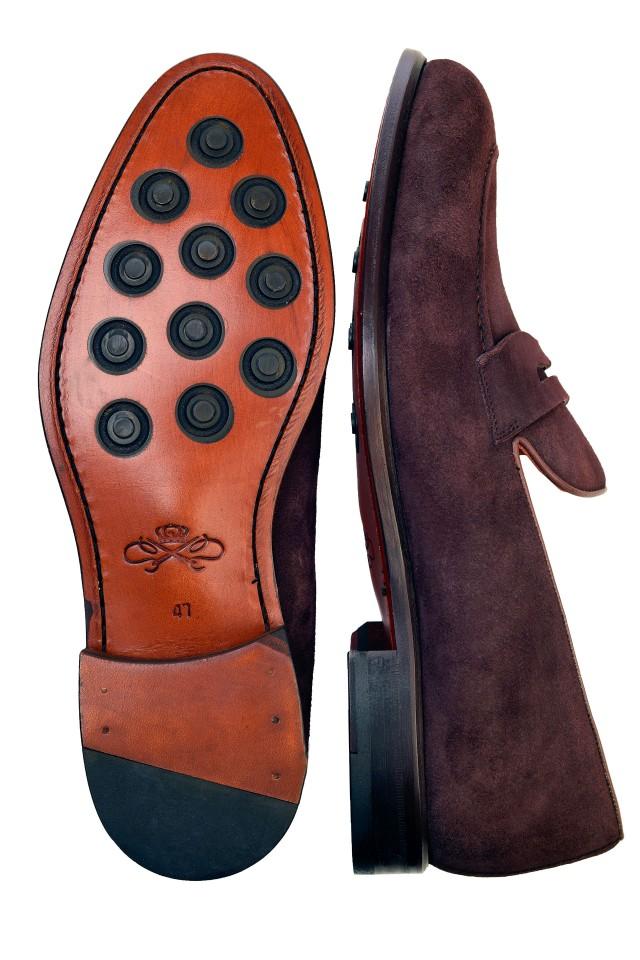 Pantofi suede loafers Harris