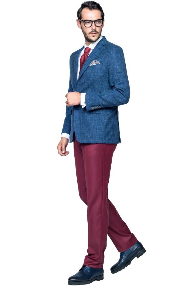 Costum Michael Albastru din Lana, In