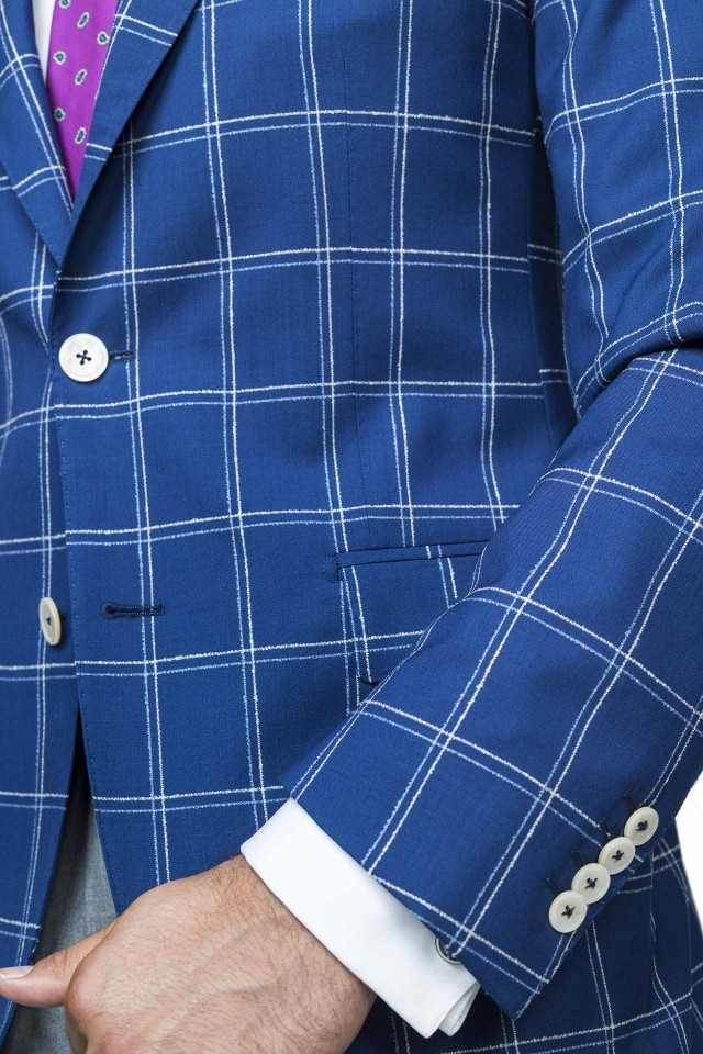 Costum Johnny Albastru din Lana