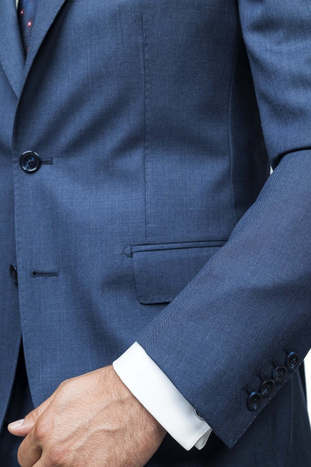 Costum Moss Albastru din Lana