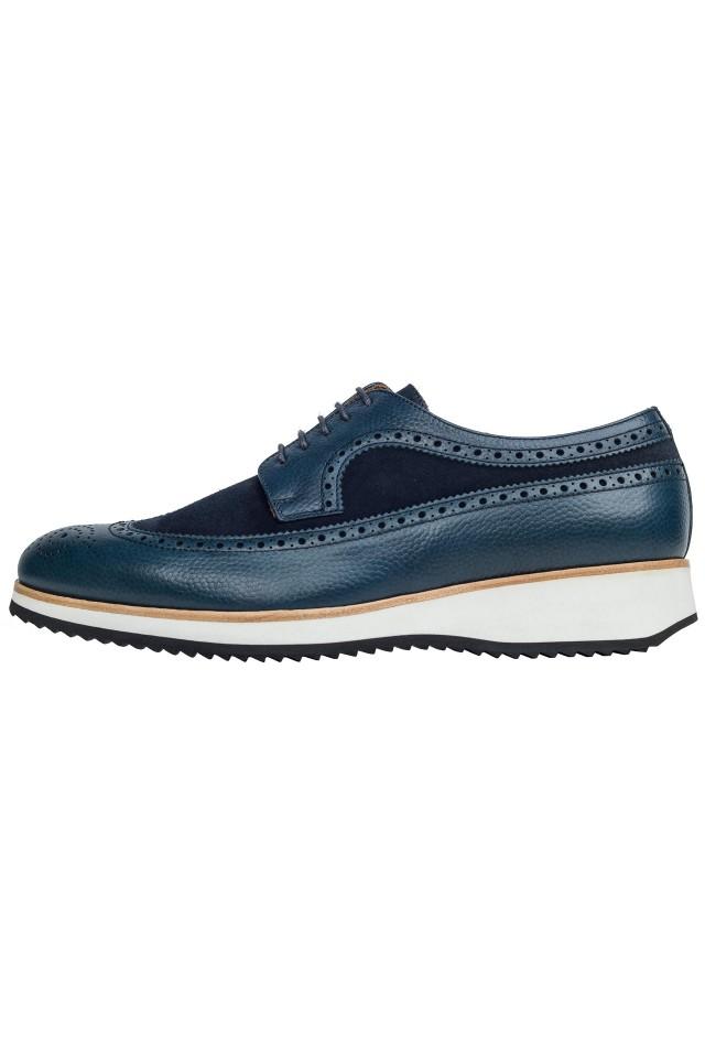 Pantofi Derby Casual Bleumarin