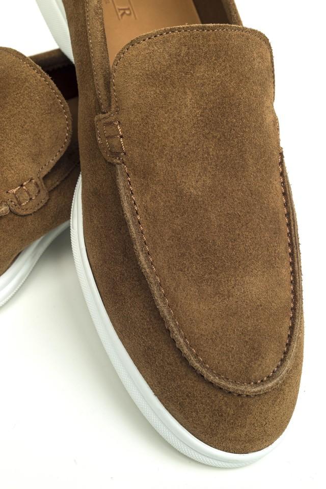 Loafer Suede Slip-on Bej