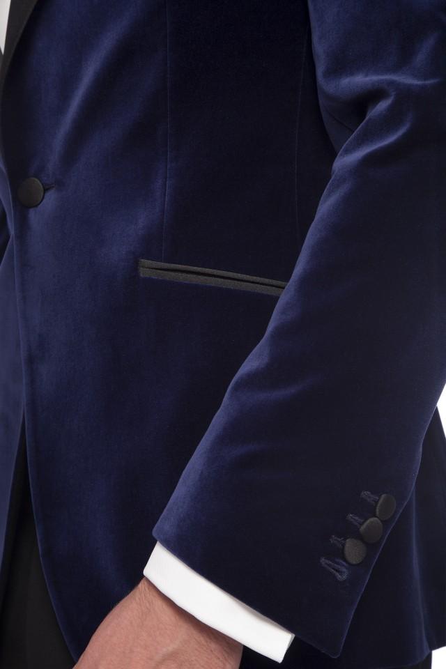 Costum Aidan Blue Bleumarin din Bumbac