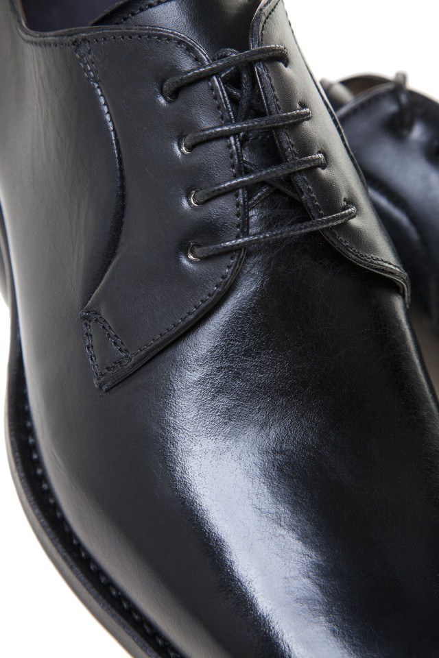 PANTOFI BLACK CALF DERBY Two