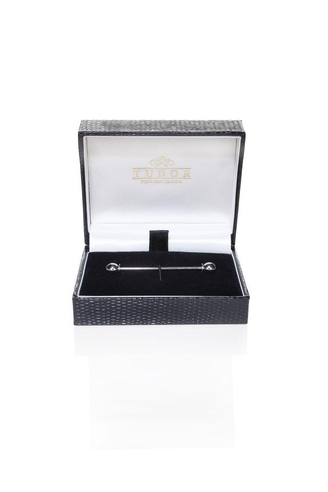 AC pin de cravata Clem Silver