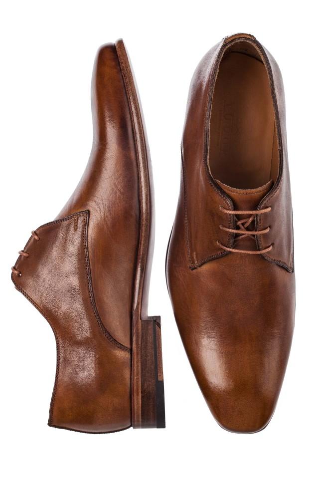 Pantofi derby beige antique