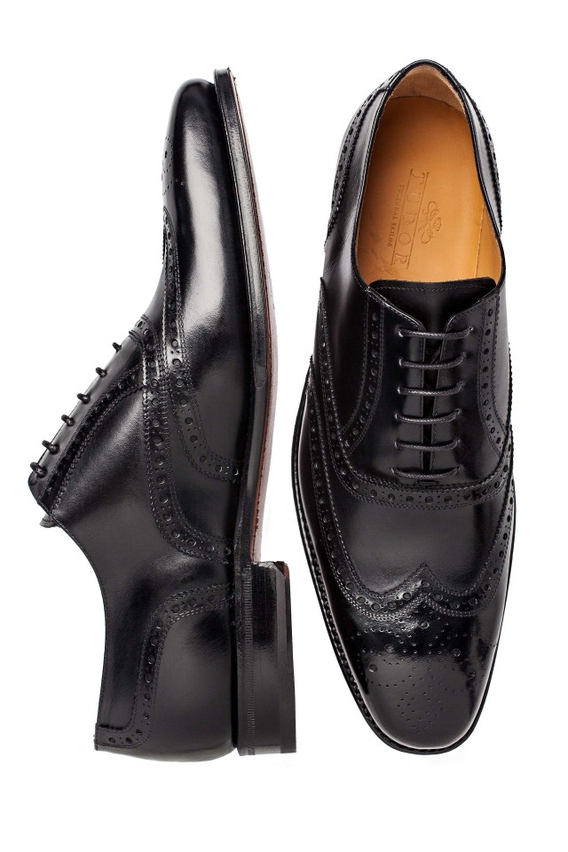 Pantofi oxford full-brogue black