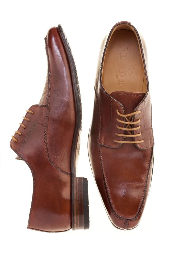 Pantofi  derby cognac antique