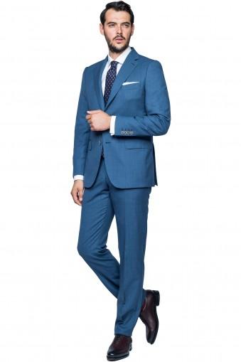 Costum Campbell Albastru din Lana
