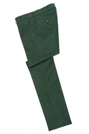 Pantaloni chino Gale Verde din Bumbac