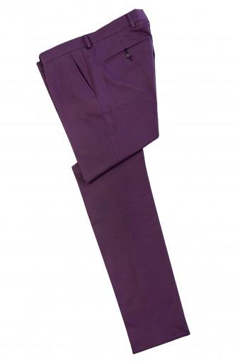 Pantaloni chino Conrad Mov din Bumbac
