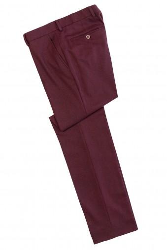 Pantalon Flannel Harper Grena din Lana