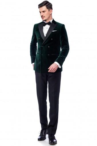Costum Aidan Verde din Bumbac, Modal