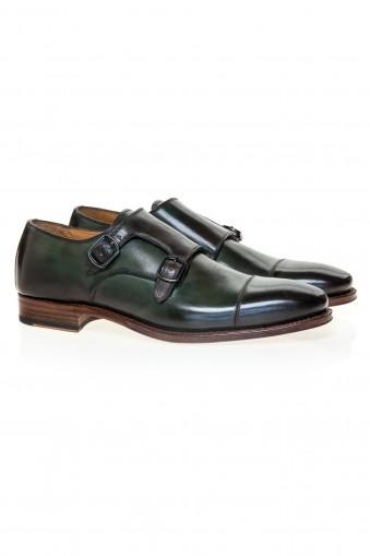 Pantofi Double Monk Oliver Green