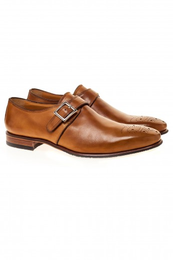 Pantofi single monk strap brown