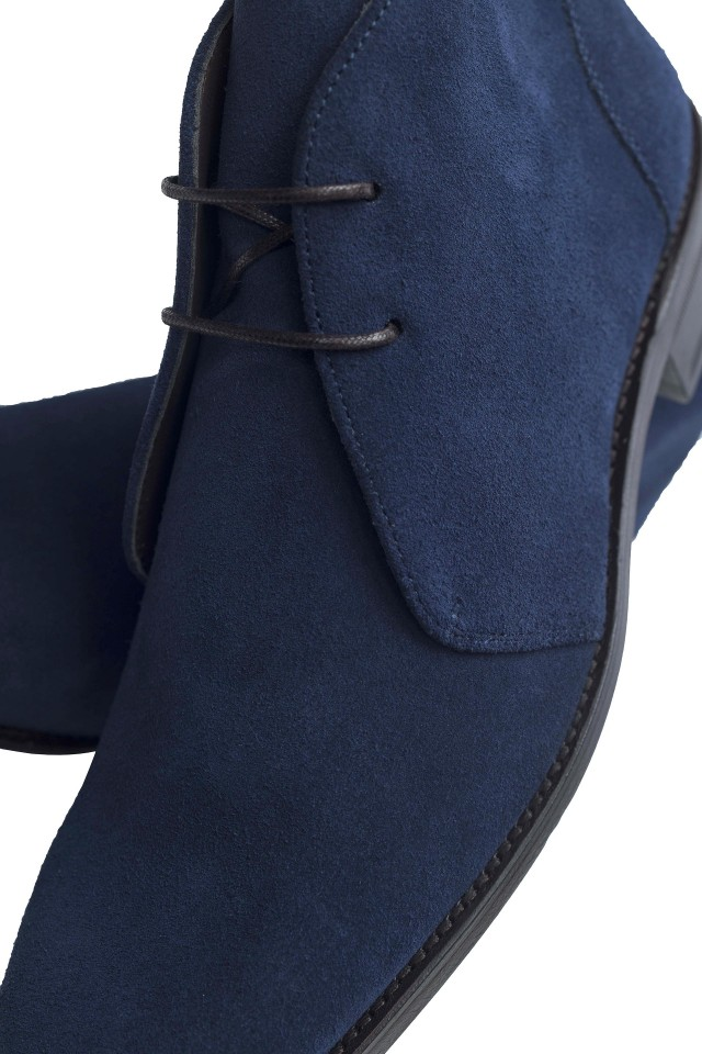 Navy Suede Chukka Boots