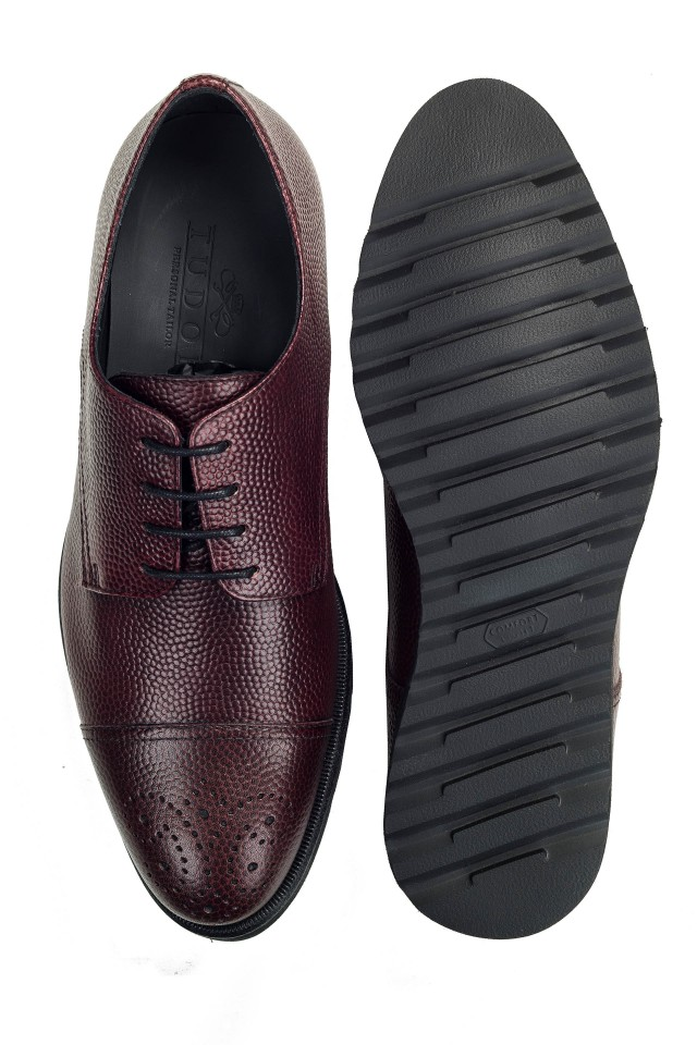 Derby Pebble Burgundy Shoes