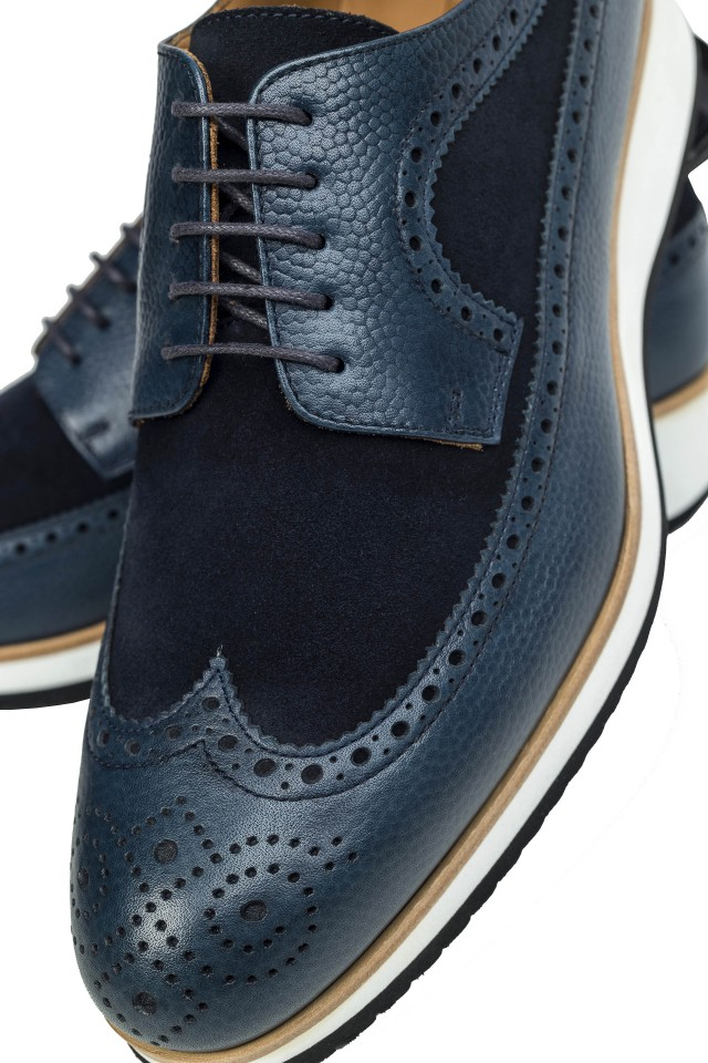 Derby Casual Navy Shoes