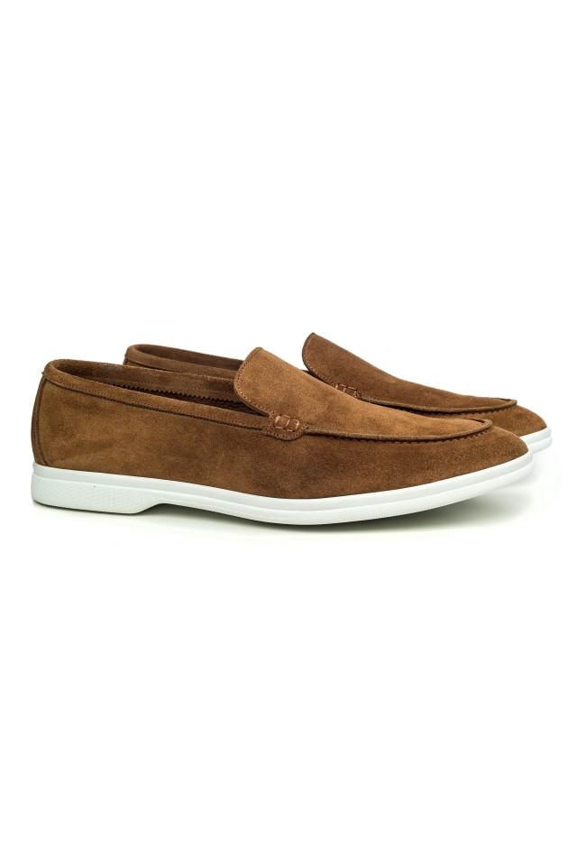 Loafer Suede Slip-on Camel