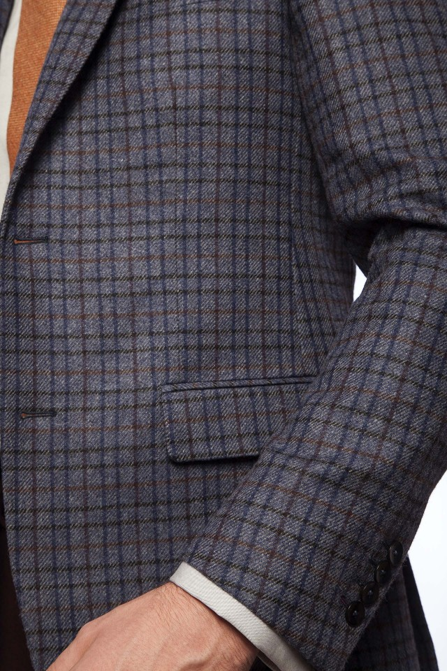 ALENE BLUE CHECK Jacket