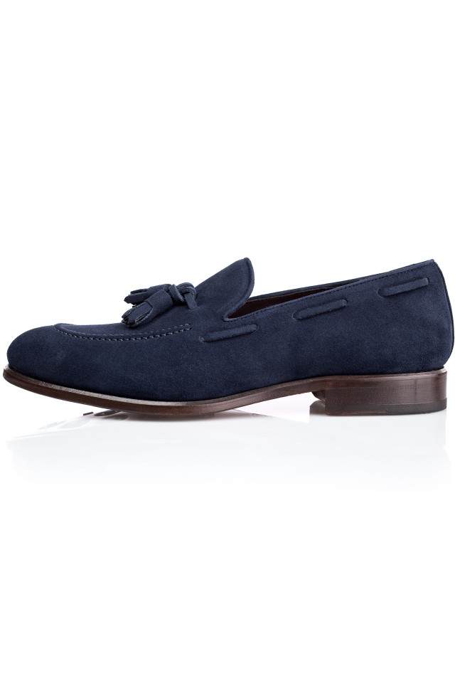 SAPPHIRE Suede Loafer Shoes