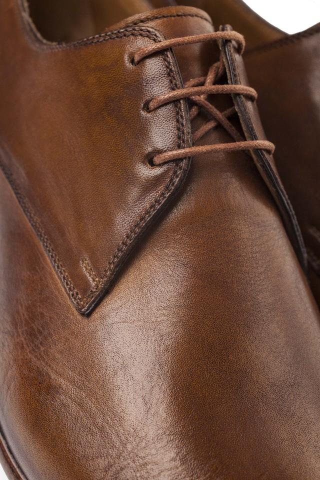 Beige Antique Derby Shoes