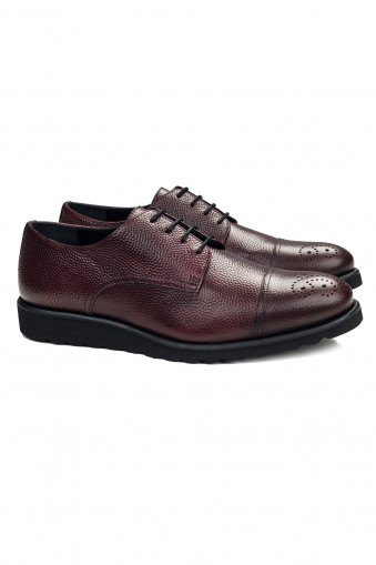 Derby Pebble Burgundy Shoes