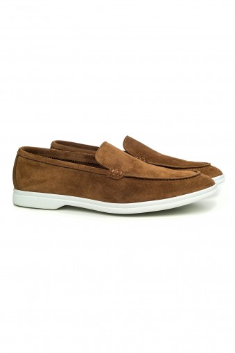 Loafer Suede Slip-on Camel