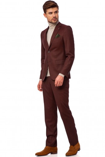 Durril Burgundy Suit