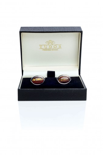 TIGER EYE Two Cufflinks