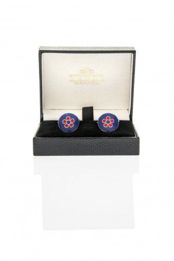 Abbot Red Cufflinks