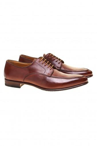 Cognac antique derby shoes