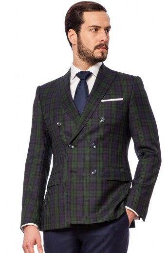 EDMUND GREEN CHECK Jacket