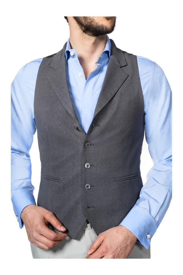 11-Vesta eleganta gri de costum barbati