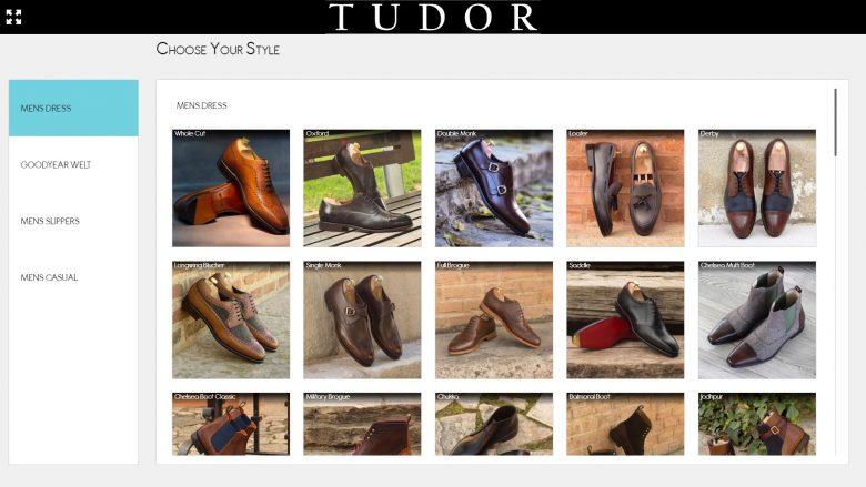 Aplicatia 3d de customizare pantofi barbatesti Tudor Tailor