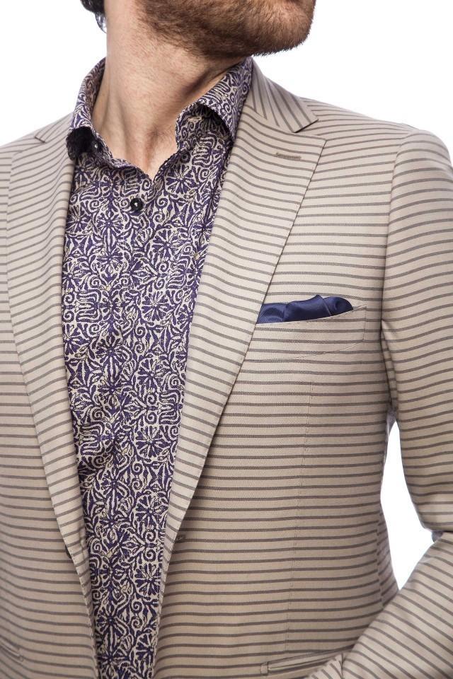 Camasa smart casual barbati, cu model floral Tudor Tailor