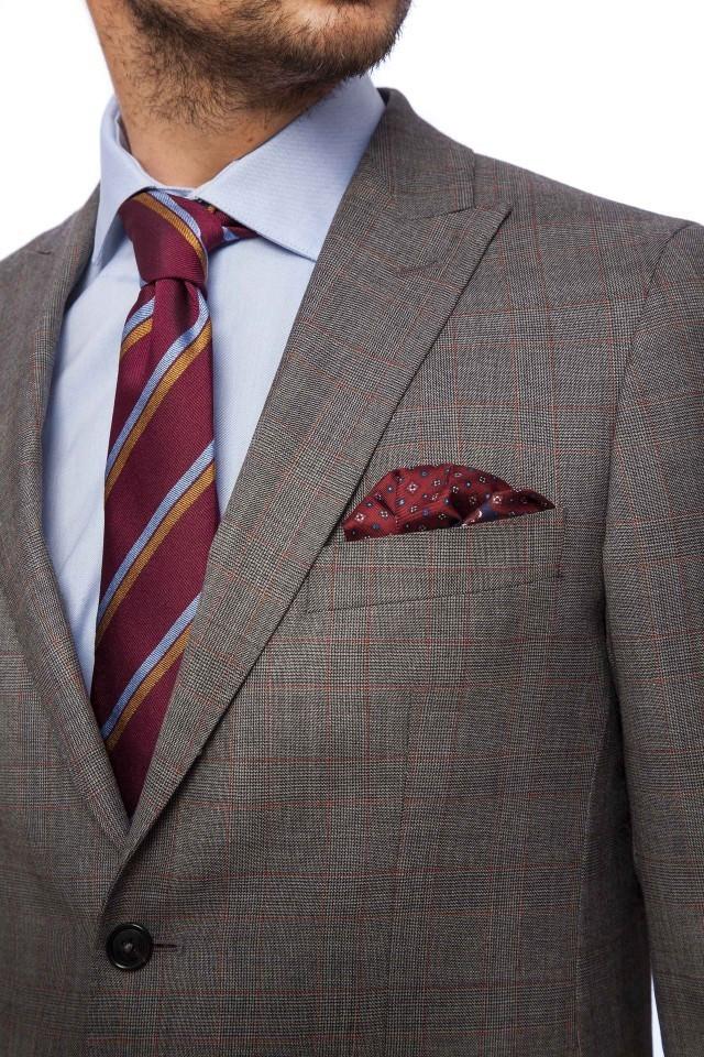 Costum business clasic Tudor Tailor, gri