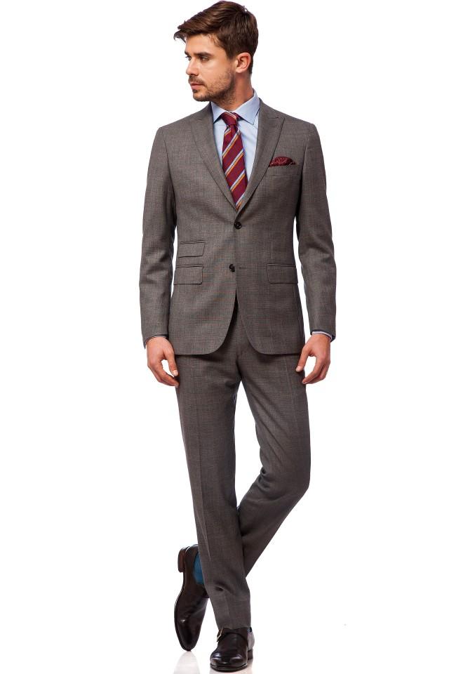 Costum business pentru barbati Maddox, Tudor Tailor, culoare gri