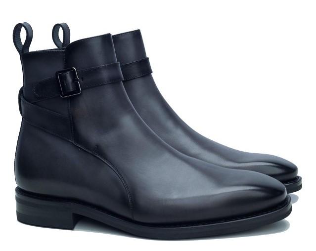 Ghete de barbati simple cu catarama, tip jodhpur boots Tudor Tailor