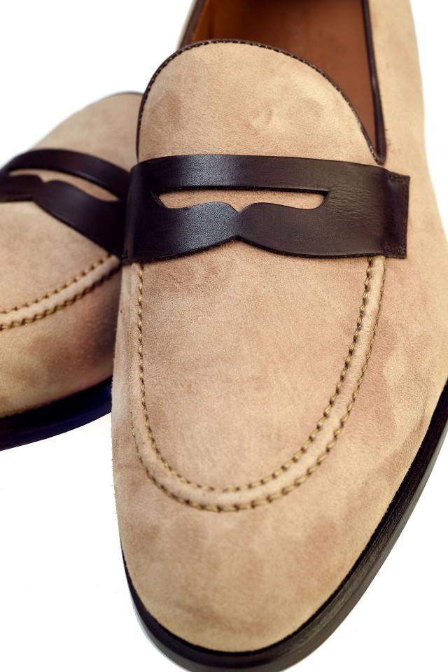 Pantofi bărbătești Loafers, din piele suede, pentru petreceri de vară
