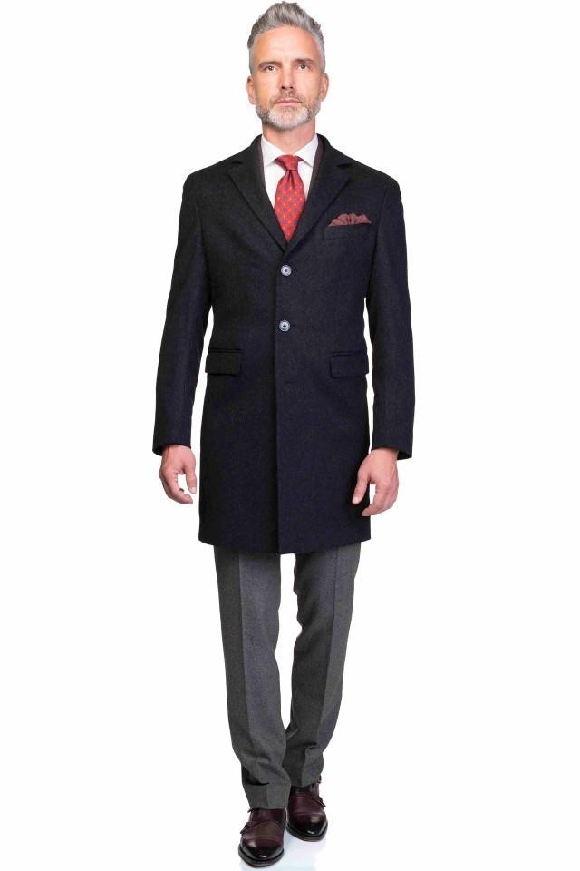 Palton Duras negru clasic pentru barbati