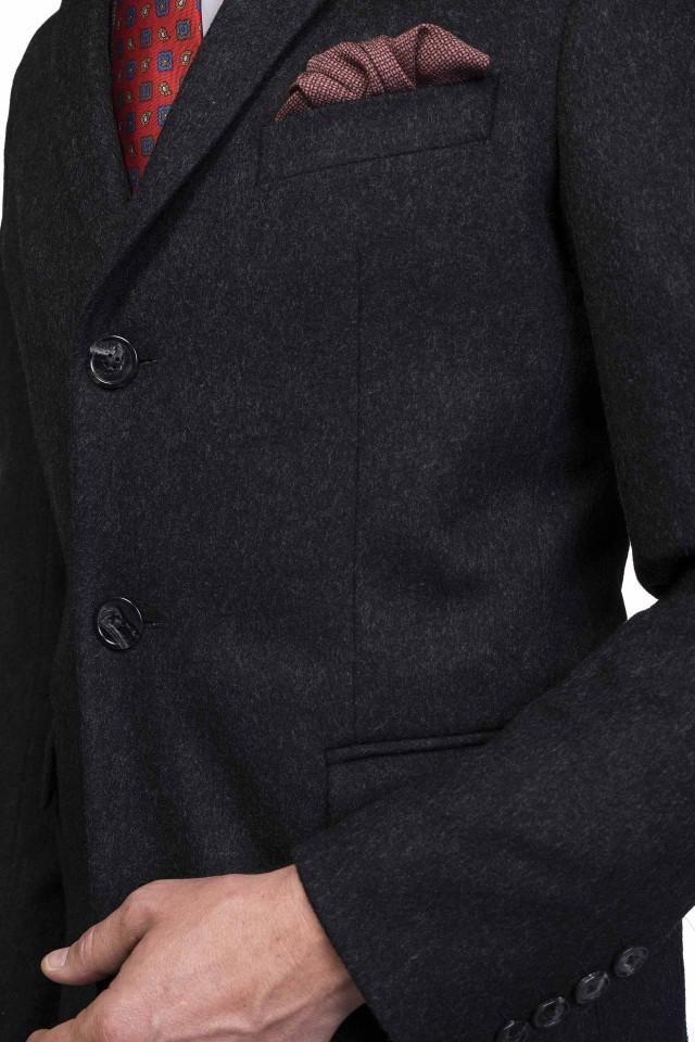 Palton gros, din lână și cașmir pentru bărbați