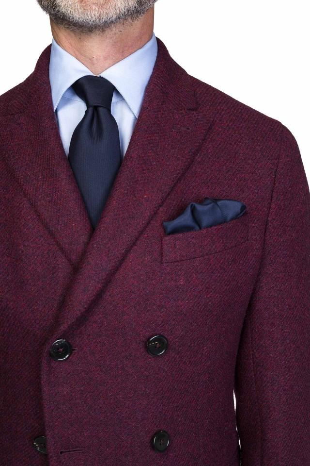 Palton grena pentru barbatii eleganti