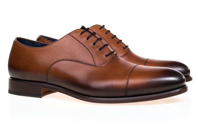 Pantofi maro Oxford smart casual pentru barbati