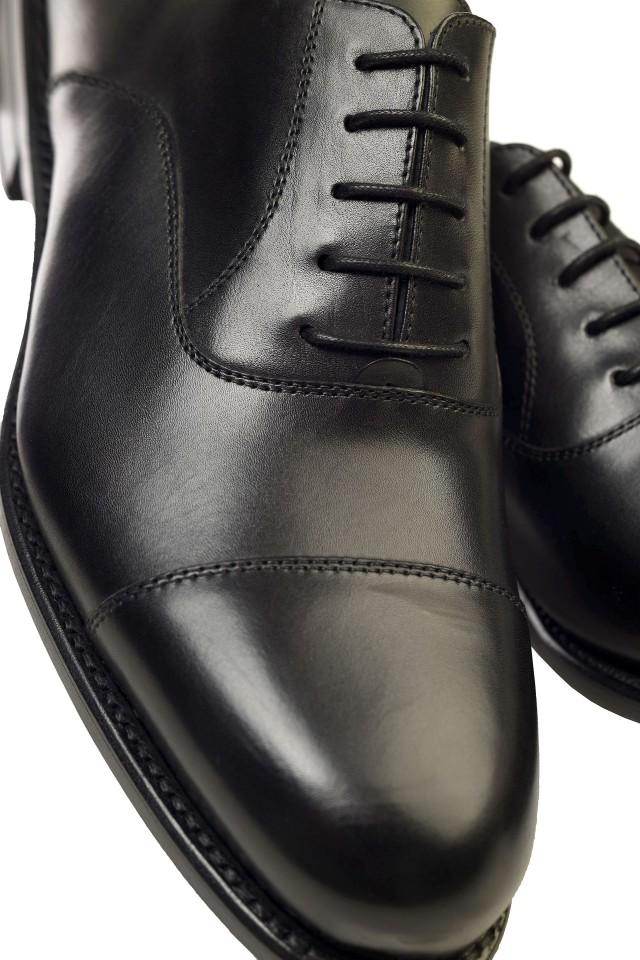Pantofi oxford negri de piele, pentru barbati