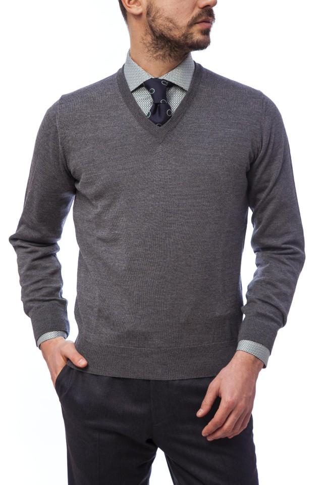 Pulover din lana merinos pentru barbati