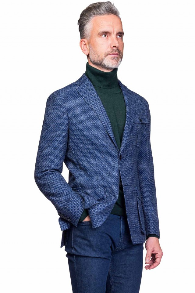 Sacou smart casual bleumarin pentru barbati