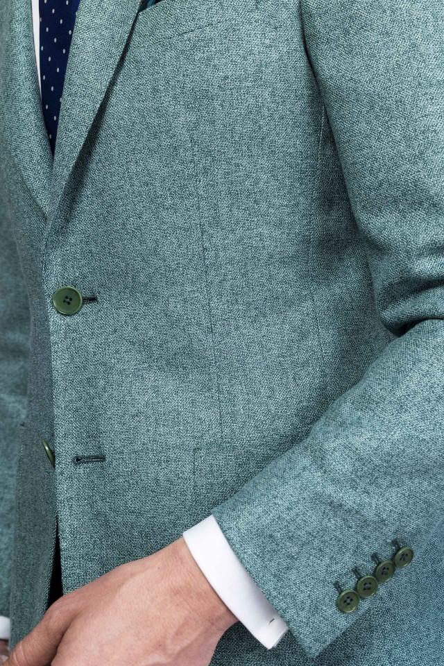 Sacou verde casual pentru zilele mai ocupate, în sezonul rece